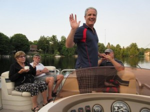 Boating at the Bryley Summer Outing