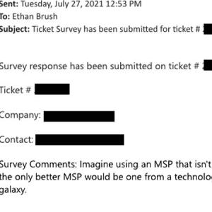 Survey comment