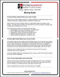 Bryley Moving Guide PDF